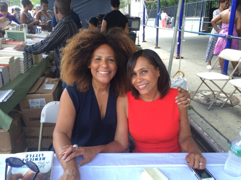 Signing books with Pam Newkirk at the Harlem Book Fair